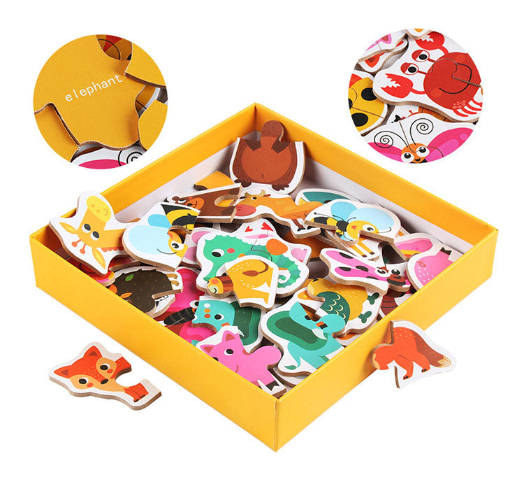 3d jigsaw puzzle educational wooden toy