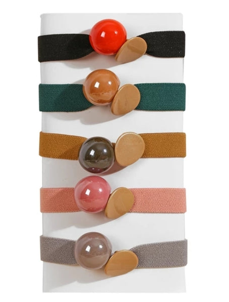 Cute mixed colors and design pony tail elastic -sold per piece