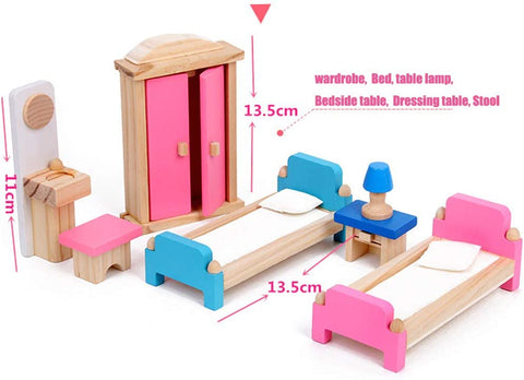 35pcs wooden miniature dollhouse  set
