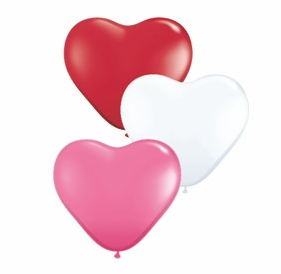 Valentine Biodegradable heart shaped balloons!