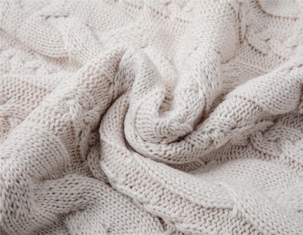 Weighted knitted blanket