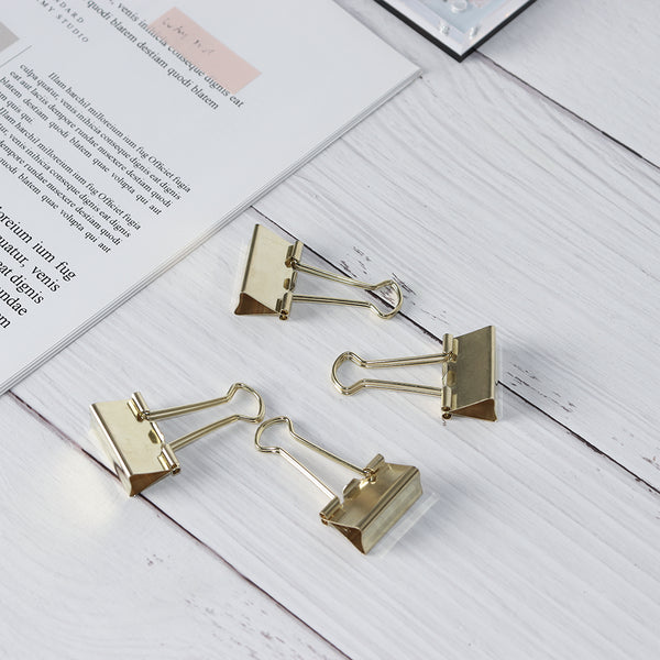 25mm gold metal gold binder paper clips