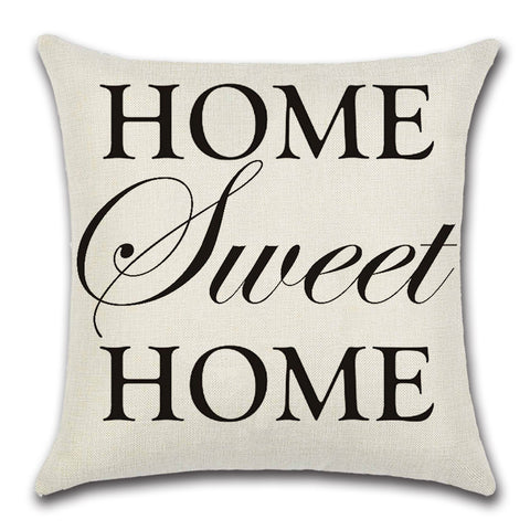 """HOME SWEET HOME"" Flax Linen throw pillow"