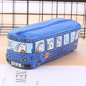 School bus pencil case