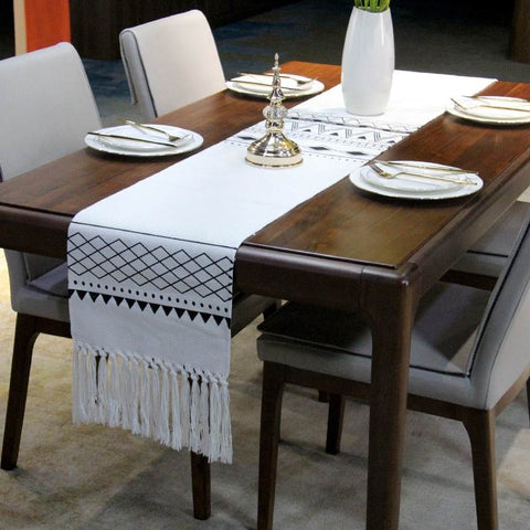 Fringe minimalist table runner.