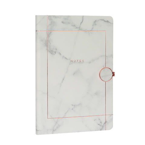 Journal with magnetic metallic clasp