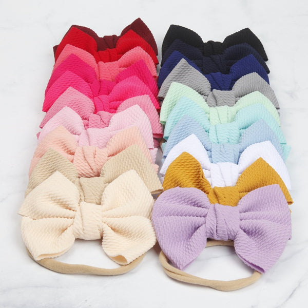 Infant soft bow head band