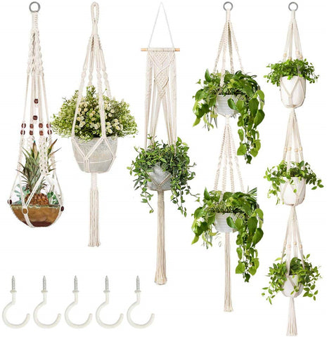 Macrame Plant Hangers (varied design)