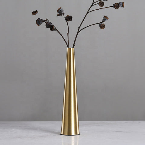 Gold metallic vase