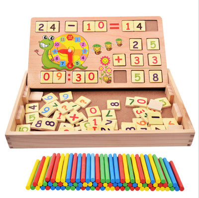 Montessori arithmetic wooden learning set