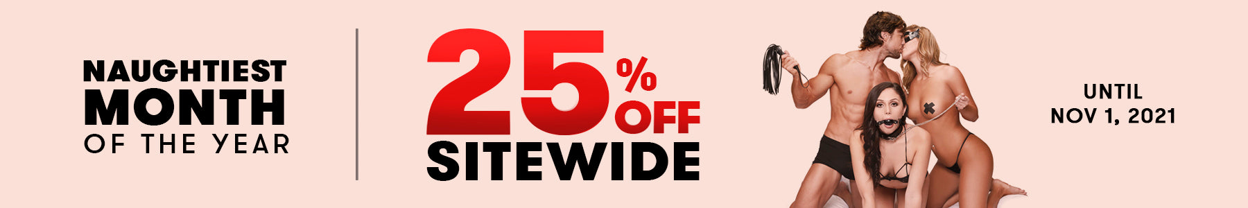 Lux Fetish Naughtiest Month of the Year: 25% off Sitewide until Nov 1st, 2021