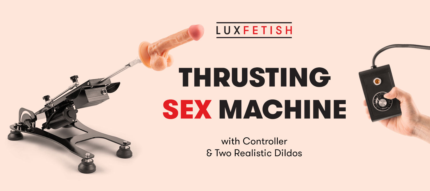 Thrusting Sex Machine With Controller & Two Realistic Dildos