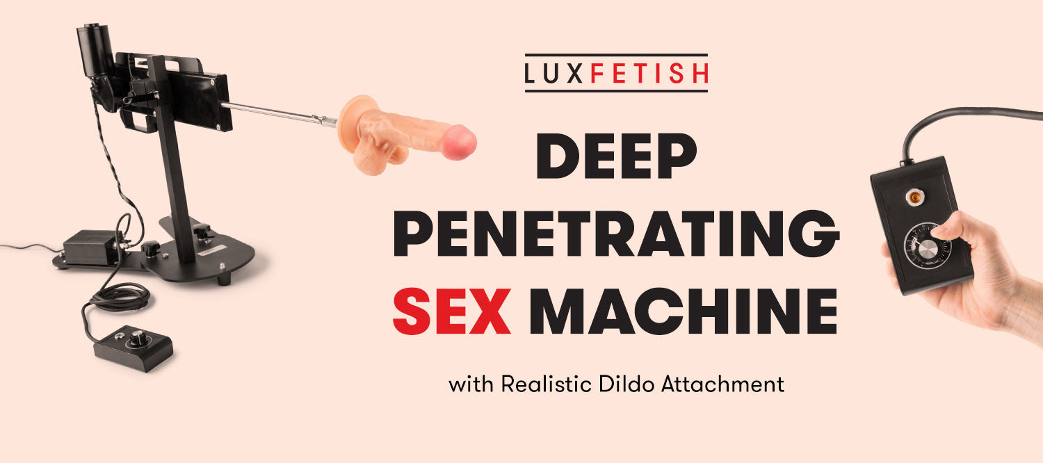 Deep Penetrating Sex Machine With Realistic Dildo Attachment