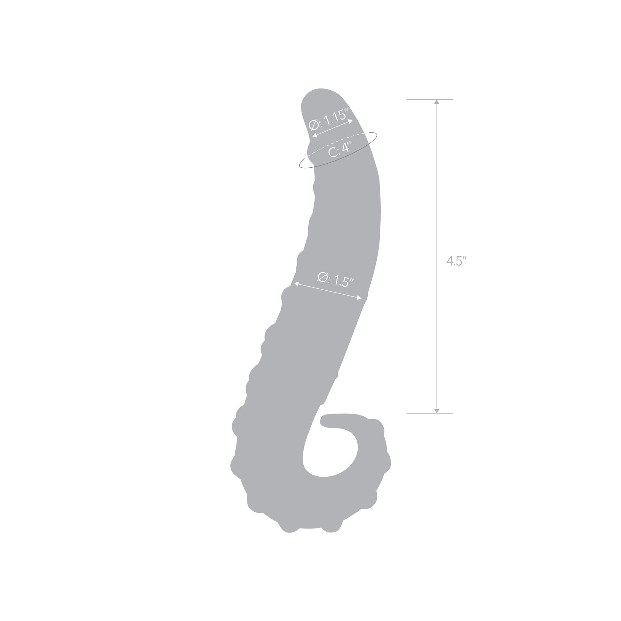 Specifications of the 6 inch Lick-it Glass Dildo