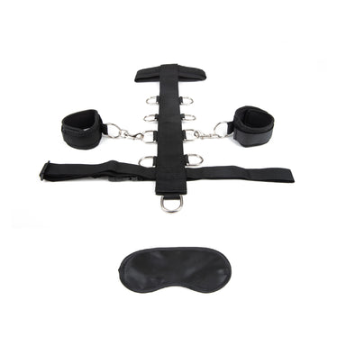 Lux Fetish 3PC Adjustable Neck & Wrist Restraint Set