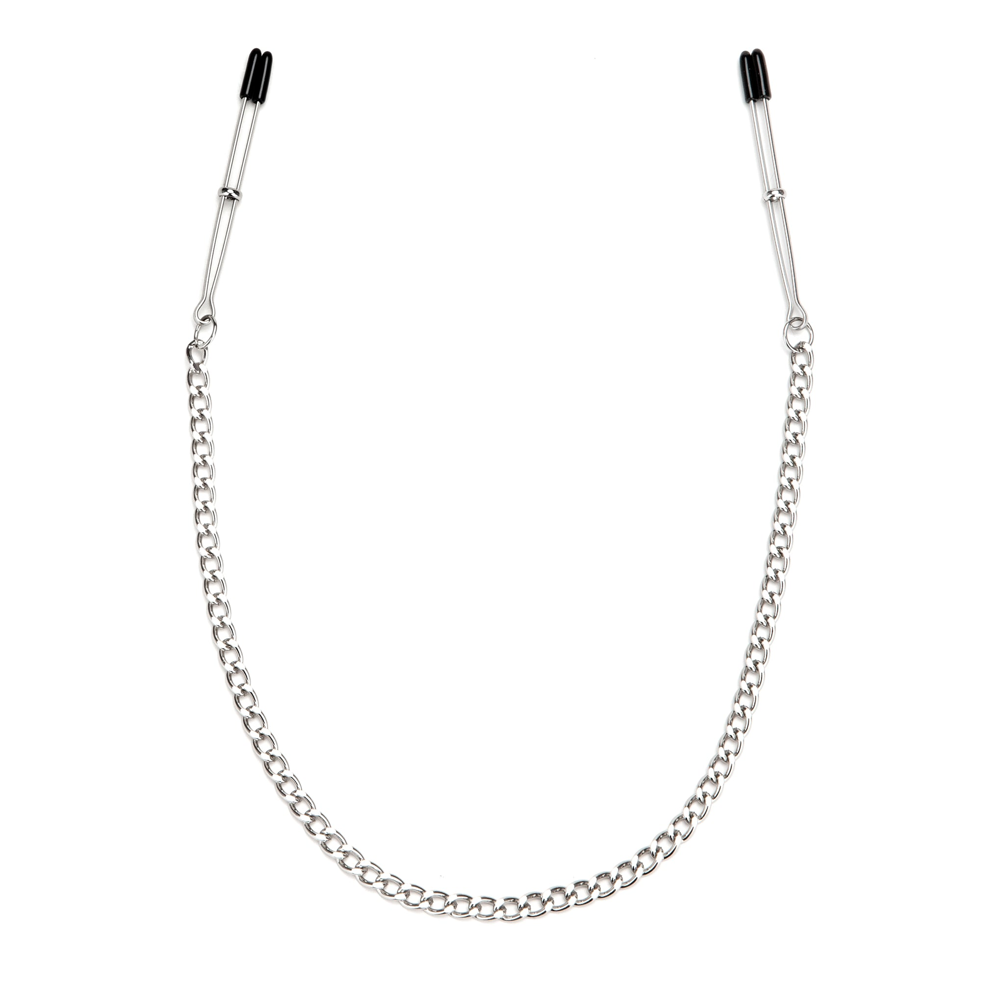 Lux Fetish Adjustable Tweezer Nipple Clips With Chain