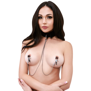 Lux Fetish Collar And Nipple Clips