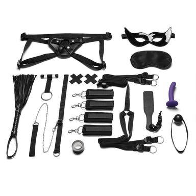 Lux Fetish Everything You need Bondage In-A-Box Bedspreaders - Bed Restraint 12PC Set