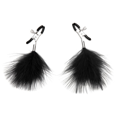 Lux Fetish Feather Nipple Clips