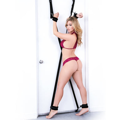Lux Fetish Over the Door Cross BDSM Cuffs (Universal Cuffs)