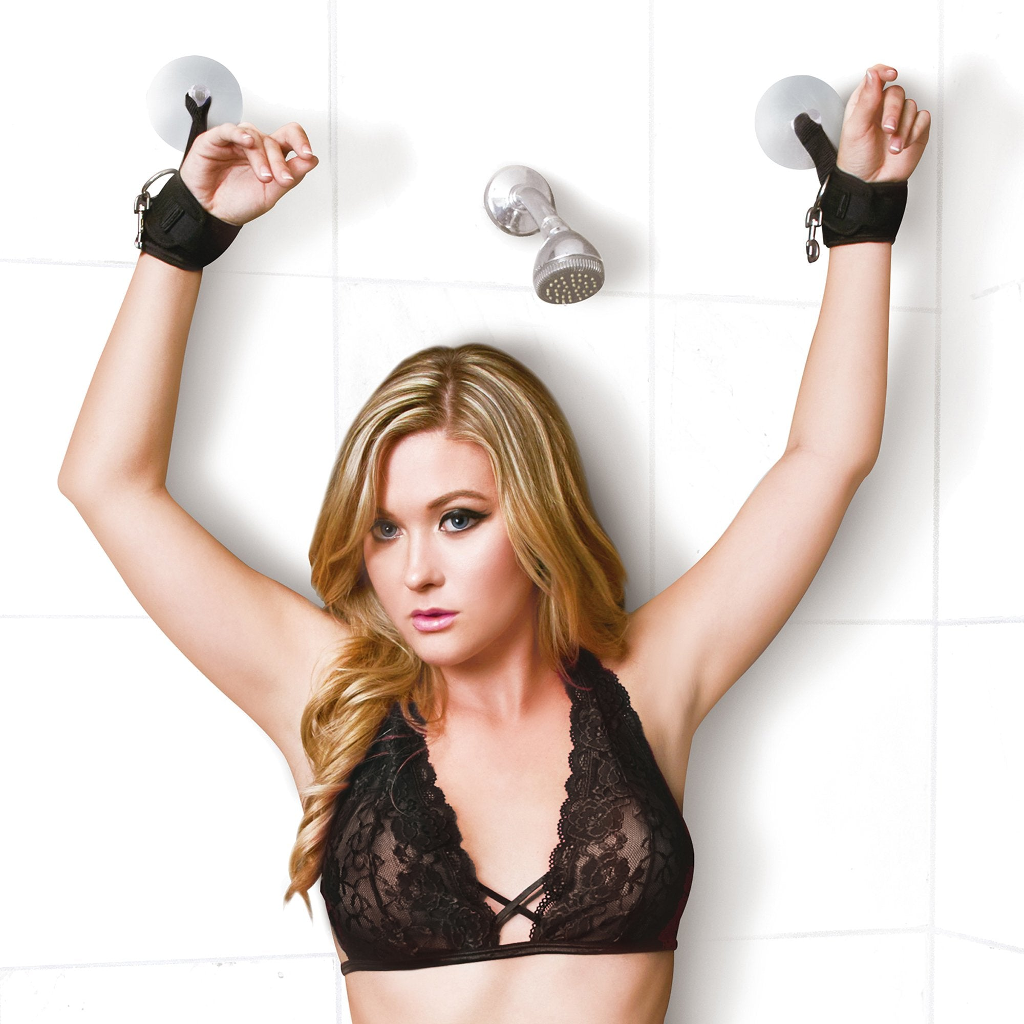 Lux Fetish Sexy Suction Shower Cuffs