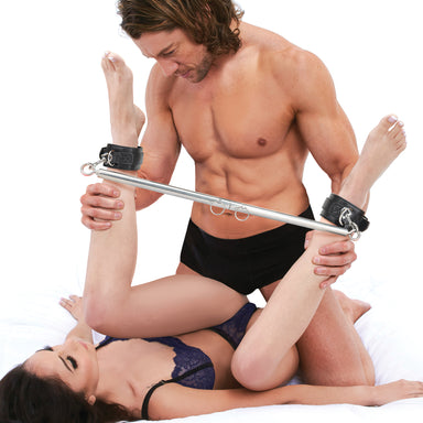Lux Fetish Expandable Spreader Bar Set with Detachable Cuffs