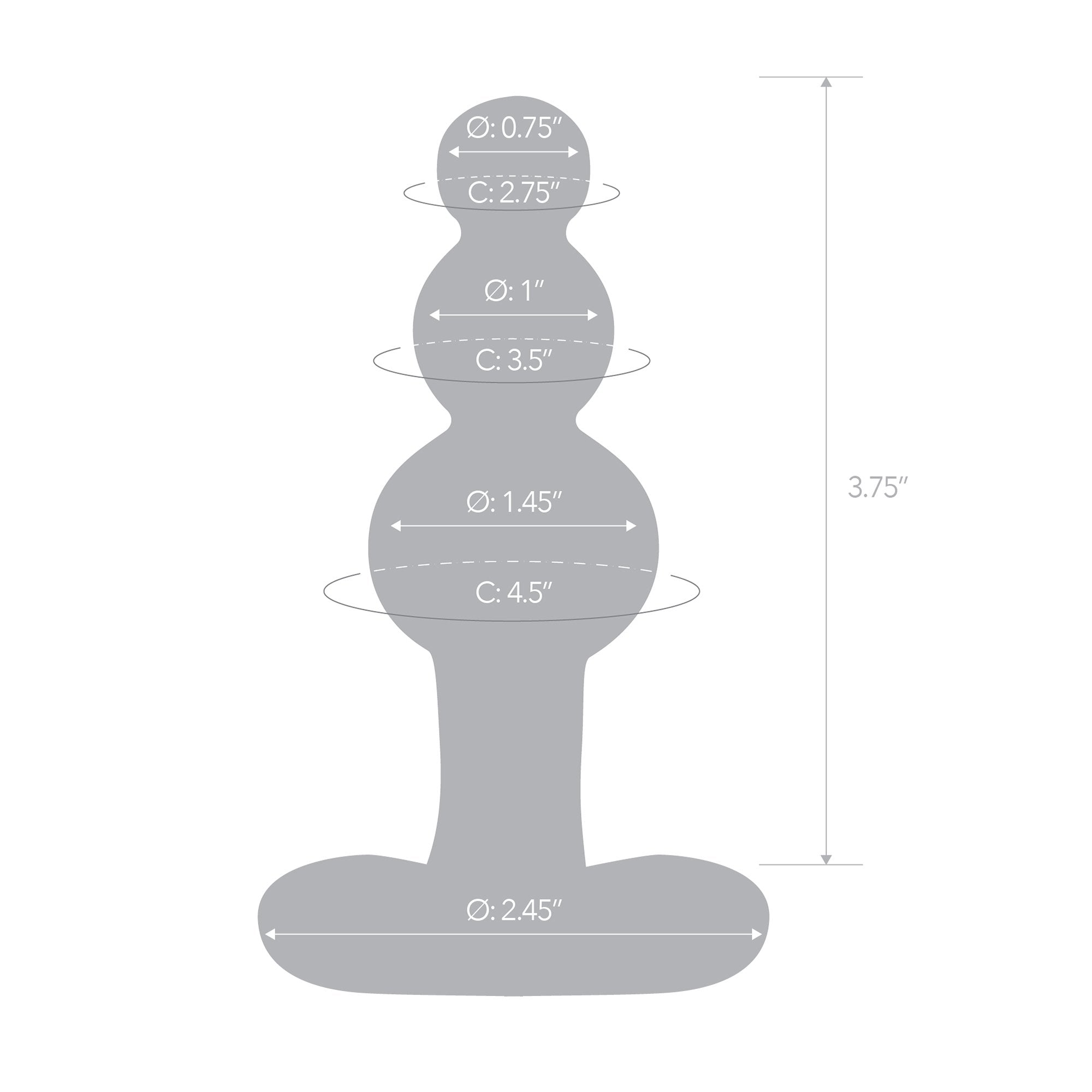 Specifications of the Gläs 4 inch Beaded Glass Putt with Tapered Base