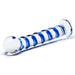 Gläs Blue Spiral Glass Dildo