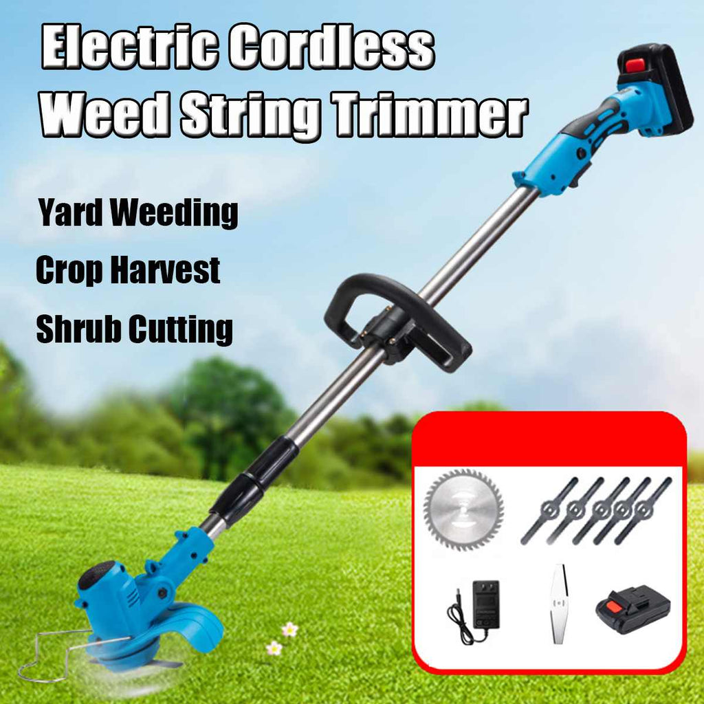 Portable Smart Wireless Electric Lawn Mower Trimmer Edger - Eresbos