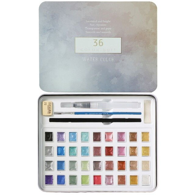 Metallic Watercolor Painting Set - Eresbos