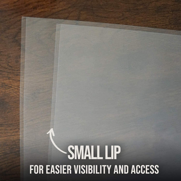 High-Density 3 Mil Polypropylene Outer Record Sleeves WITH LIP