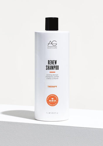 AG Renew Clarifying Shampoo Product build-up, chlorine and damaging mineral deposits are a thing of the past with Renew's gentle, colour-safe revitalizing formulation. The ideal swimmer's shampoo, Renew gently removes chlorine and product build-up and leaves hair with renewed manageability. pH 4.5-5.5.