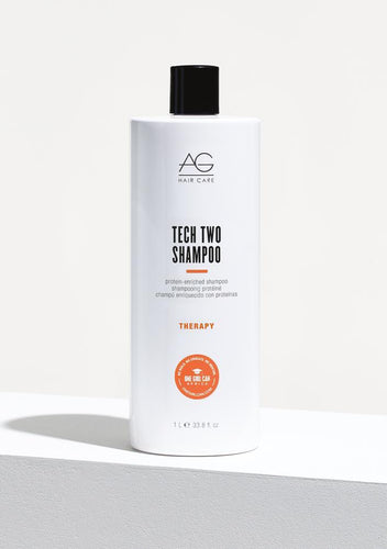 AG TECH TWO Shampoo Specifically formulated to repair, strengthen and moisturize chemically-damaged hair, Tech Two contains twice the beneficial protein of other shampoos. Silk and keratin proteins coupled with panthenol soothe damaged hair helping restore moisture, shine and vitality. pH 4.5-5.5.