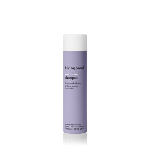 Living Proof Color Care Shampoo A sulfate-free, silicone-free color care shampoo that gently cleanses, nourishes and protects against UV, hard water and damage (which can cause color fading).  Gently cleanses hair UV protection Reduces damage from wet combing with enhanced slip Provides protection against hard water minerals that degrade hair color Helps hair stay cleaner, longer