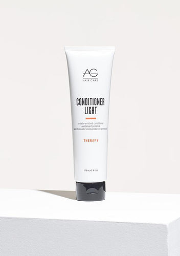 AG CONDITIONER LIGHT Formulated with a lower-pH, this silky-smooth, super detangling conditioner closes down the cuticle to lock in moisture and shine. Ideal for use after colour treatment. Conditioner Light is packed with protein, yet light enough for daily use. pH 3.5-4.5. A must for using after colouring or perming to close down the cuticle and recondition hair.