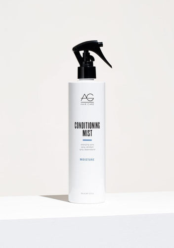 AG Conditioning Mist Detangling Spray Spray in condition and leave out tangles with this ultra-light herbal formula. Conditioning Mist instantly detangles without build up or residue, leaving hair soft, shiny and bouncy. Also ideal for children with tangles. pH 4.5-5.5.