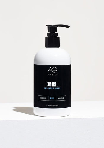 AG Control Anit-Dandruff Shampoo Control shampoo is an extremely effective anti-dandruff treatment containing more than twice the active ingredients and none of the tar found in other dandruff shampoos – in fact, Control is formulated with the maximum active ingredient allowable without a prescription. The rich lather and sophisticated fresh scent of Control is also unlike any other treatment shampoo, leaving hair healthy and moisturized while effectively eliminating dry, itchy scalp. pH 5.0 to 6.5.