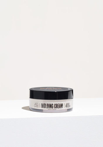 AG Molding Cream Mold, sculpt and set your style in any hair length, adding texture and a polished shine as you work to create a long lasting look. Molding Cream distributes easily through the hair and washes out effortlessly. For a slick and polished look or piecey separation. Hold Factor: 4/5