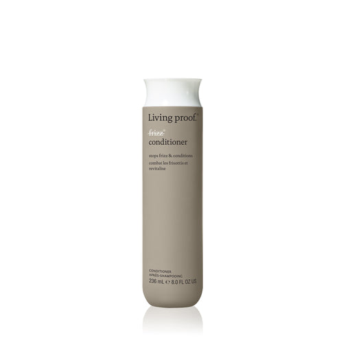 Living Proof No Frizz Conditioner A lightweight conditioner that detangles, conditions, and fights frizz. Weightlessly blocks humidity Smooths hair strands Nourishes and conditions