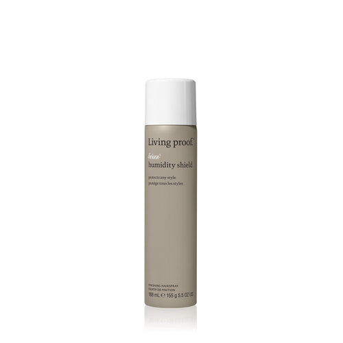 Living Proof No Frizz Humidity Shield A weightless protective finishing spray that prevents frizz by providing 6x more humidity protection on any finished style. Weightlessly blocks humidity Use on dry hair anytime, anywhere