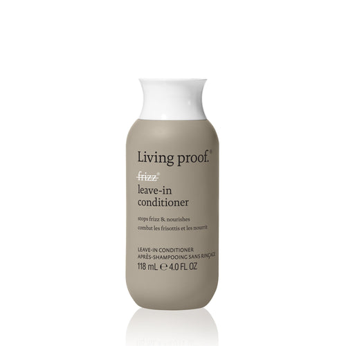 Living Proff No Frizz Leave in conditioner A hydrating treatment that gives an extra boost of conditioning and frizz protection.  Weightlessly blocks humidity Smooths hair strands Nourishes and conditions
