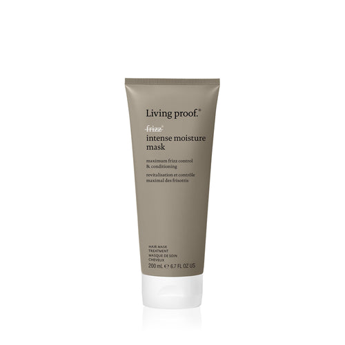 Living proof No Frizz Intemse moisture mask Protect your hair from frizz, in just minutes. This deep conditioning silicone-free mask intensely conditions even the coarsest hair without weighing it down. It replenishes healthy hair's natural protective layer resulting in maximum frizz protection.