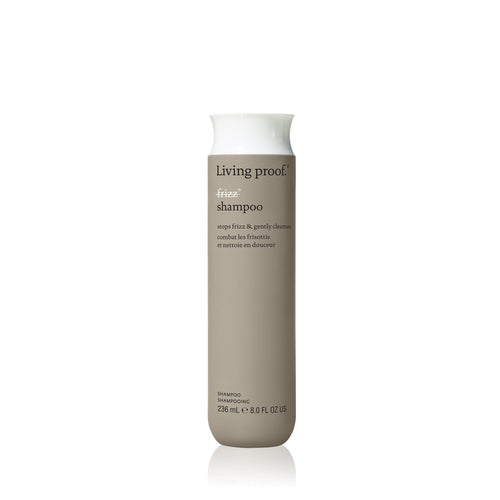 Living Proof No Frizz Shampoo A rich lather shampoo that is the first step in fighting frizz.  Weightlessly blocks humidity Smooths hair strands Nourishes and conditions