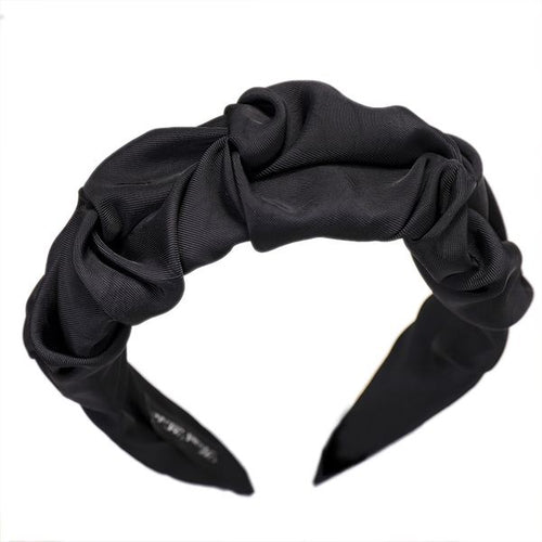 Wide Folded Headband Hair Accessories Black