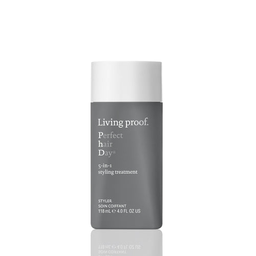 Living Proof Perfect hair day 5 - 1 styling treament  A genius styling treatment that allows you to style and treat in one step for smoothness, volume, conditioning, strength, and polish. Styles with volume and smoothness Conditions and strengthens Adds shine Heat protection (up to 450°F/230°C)