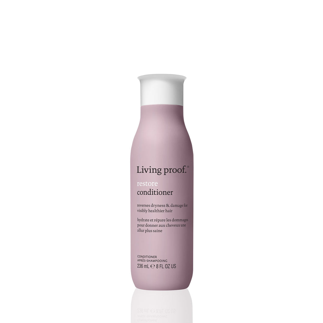 Living Proof Restore Conditioner A nourishing daily conditioner that renews softness, shine, and manageability.  Helps restore damaged hair cuticles Strengthens and protects hair from damage Renews softness and shine