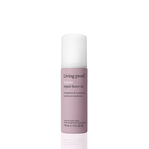 Living Proof Repair Leave In A corrective and conditioning leave-in treatment that transforms dry, damaged hair by smoothing and protecting. Makes hair silky and strong Helps to prevent up to 93% of new split ends typically caused by styling Strengthens hair leaving it 15x stronger after just 1 use
