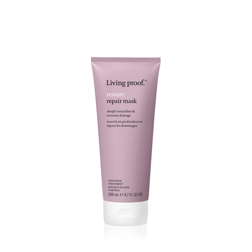 Living Proof Restore Repair Mask Repair hair, in just minutes. This restorative mask transforms dry, damaged hair to look and feel healthier. It deeply nourishes hair while reversing damage and protecting it from future damage. Hair will be left feeling soft, shiny and smooth.