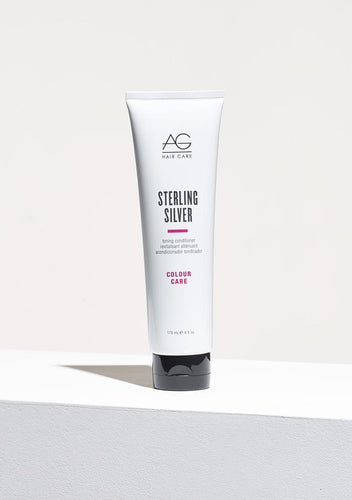 AG Sterling Silver Toning Conditioner is for Blonde or silver hair needs specific conditioning and our Sterling Silver is up for the challenge. Formulated to eliminate brassy, yellow tones from blonde and silver hair with its unique violet base, our toning conditioner provides intense moisture, condition and luster to hair. pH 4.5-5.5.