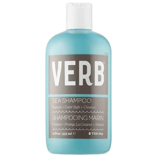 VERB Sea Texture Shampoo - A texture-enhancing shampoo that gently cleanses hair, adds body, and enhances waves for a natural, tousled look with a hint of grit.